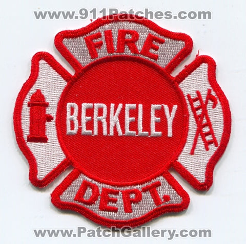 Berkeley Fire Department Patch Illinois IL