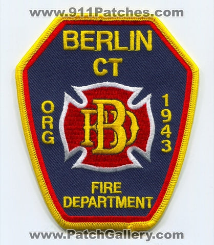 Berlin Fire Department Patch Connecticut CT