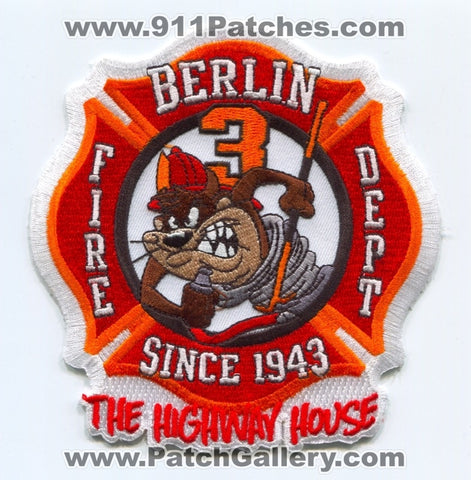 Berlin Fire Department Station 3 Patch Connecticut CT