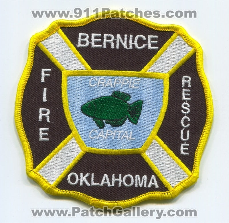 Bernice Fire Rescue Department Patch Oklahoma OK