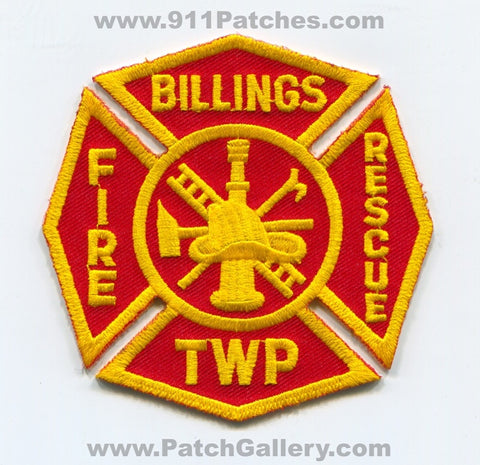 Billings Township Fire Rescue Department Patch Michigan MI