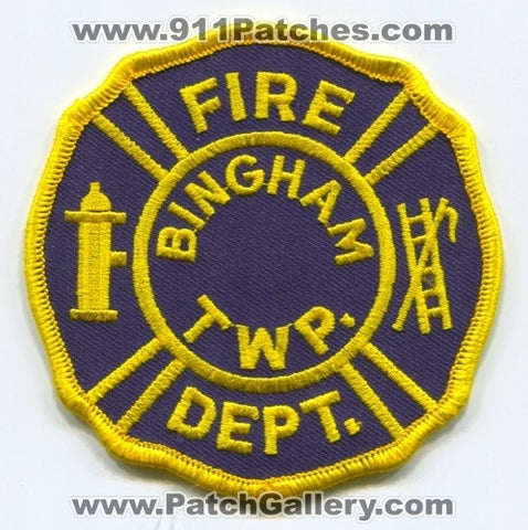 Bingham Township Fire Department Patch Unknown State