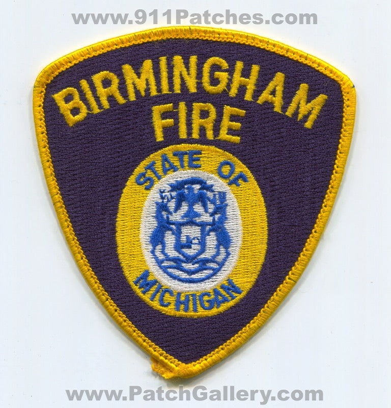 Birmingham Fire Department Patch Michigan MI
