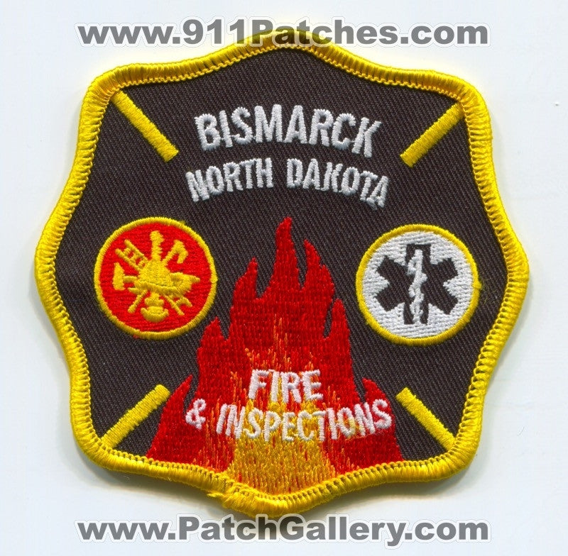 Bismarck Fire and Inspections Department Patch North Dakota ND