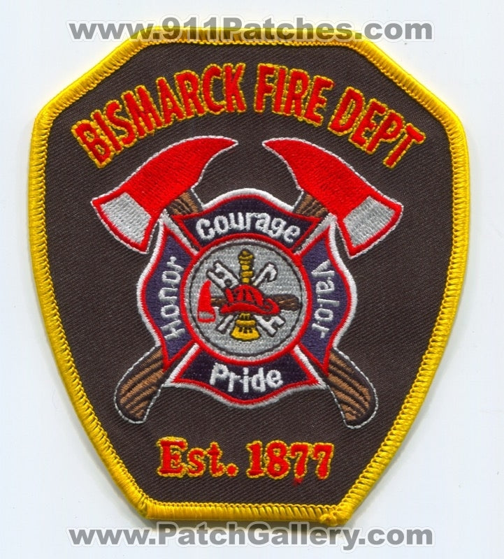 Bismarck Fire Department Patch North Dakota ND