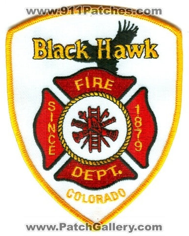 Black Hawk Fire Department Patch Colorado CO