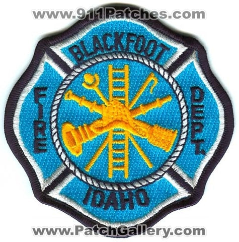 Blackfoot Fire Department Patch Idaho ID