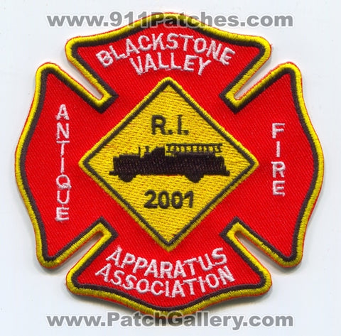 Blackstone Valley Antique Fire Apparatus Association Patch Rhode Island RI