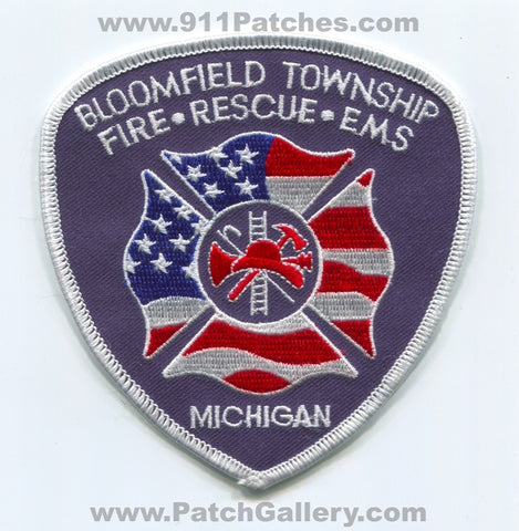 Bloomfield Township Fire Rescue EMS Department Patch Michigan MI