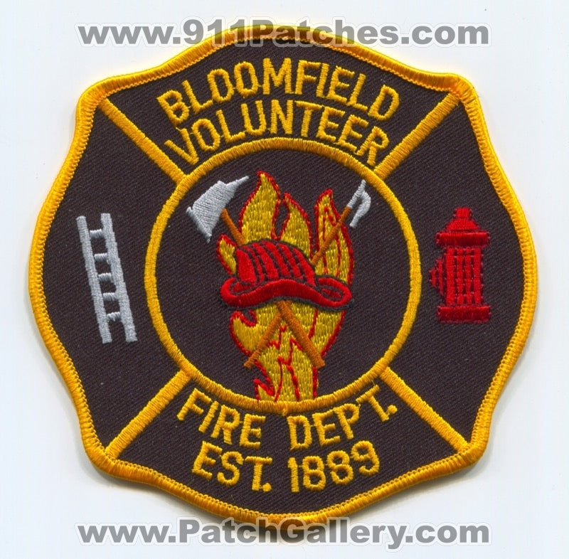 Bloomfield Volunteer Fire Department Patch Unknown State