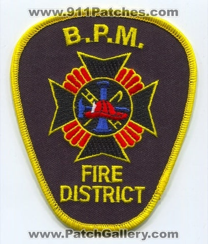 Bloomingburg Paint Marion BPM Fire District Patch Ohio OH