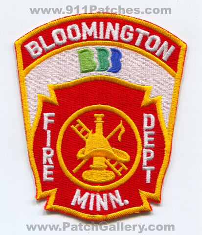 Bloomington Fire Department Patch Minnesota MN