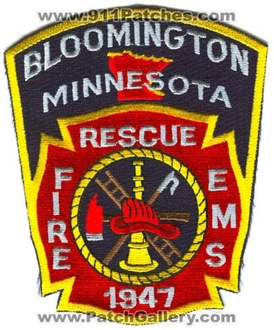 Bloomington Fire Rescue Department Patch Minnesota MN