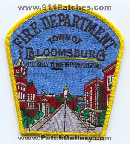 Bloomsburg Fire Department Patch Pennsylvania PA