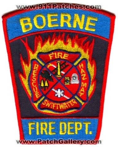 Boerne Fire Rescue Department Patch Texas TX