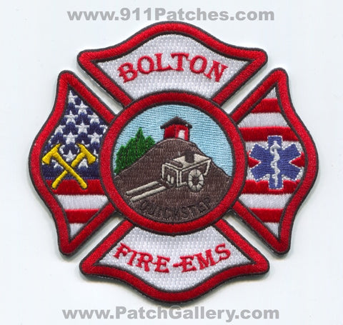Bolton Fire EMS Department Patch Massachusetts MA