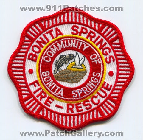 Bonita Springs Fire Rescue Department Patch Florida FL