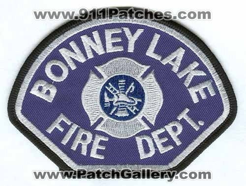 Bonney Lake Fire Department Patch Washington WA