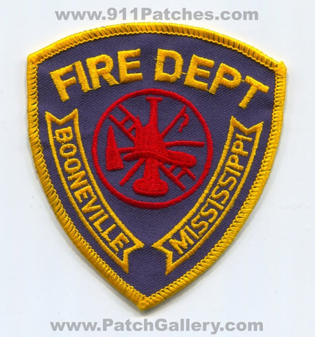 Booneville Fire Department Patch Mississippi MS