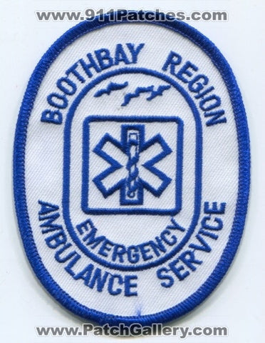 Boothbay Region Emergency Ambulance Service EMS Patch Maine ME