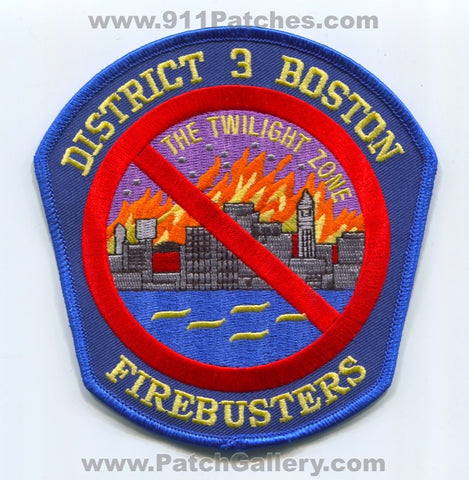 Boston Fire Department District 3 Patch Massachusetts MA