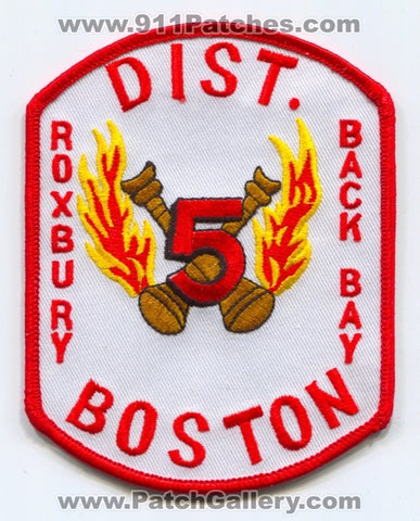 Boston Fire Department District 5 Patch Massachusetts MA
