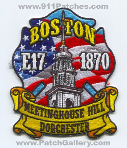 Boston Fire Department Engine 17 Patch Massachusetts MA