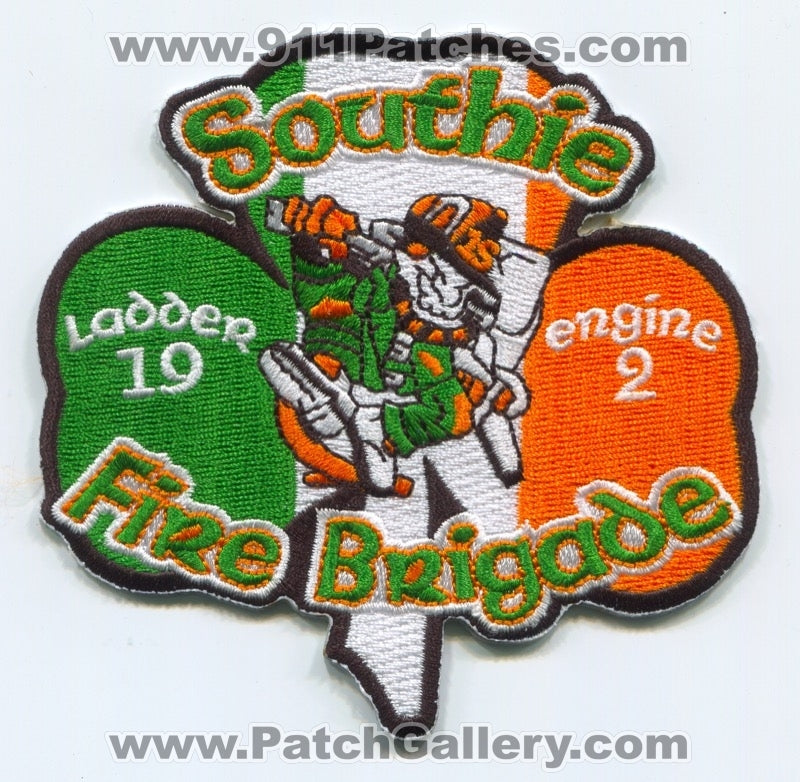 Boston Fire Department Engine 2 Ladder 19 Patch Massachusetts MA