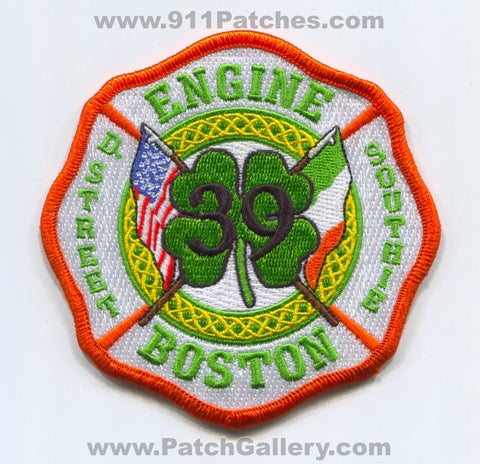 Boston Fire Department Engine 39 Patch Massachusetts MA