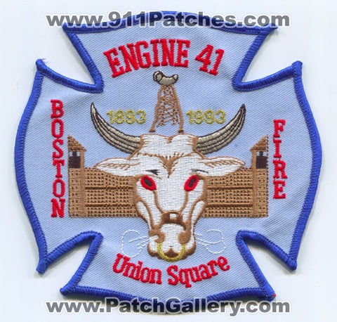 Boston Fire Department Engine 41 Patch Massachusetts MA