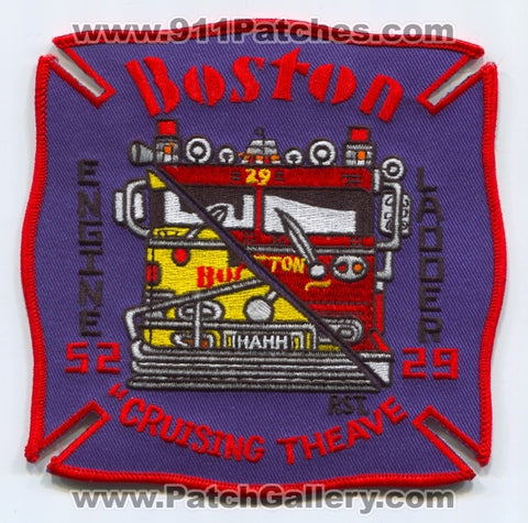 Boston Fire Department Engine 52 Ladder 29 Patch Massachusetts MA