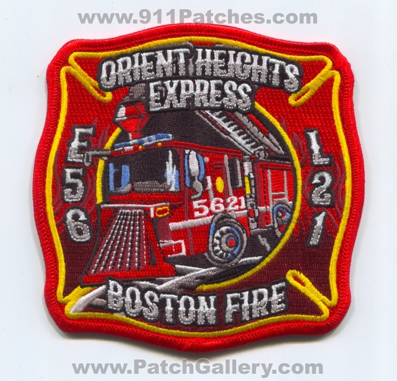 Boston Fire Department Engine 56 Ladder 21 Patch Massachusetts MA