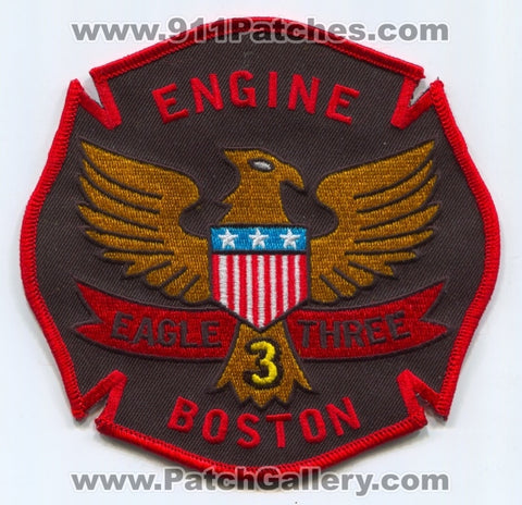 Boston Fire Department Engine 3 Patch Massachusetts MA