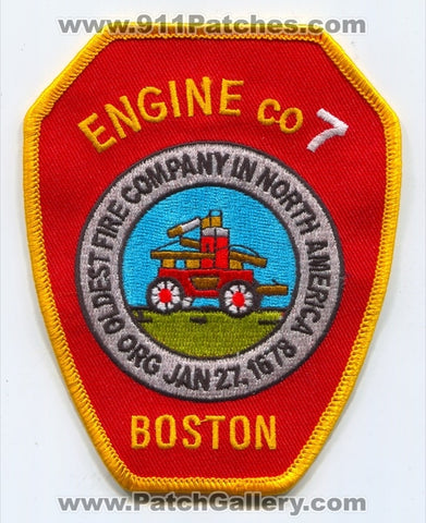 Boston Fire Department Engine 7 Patch Massachusetts MA