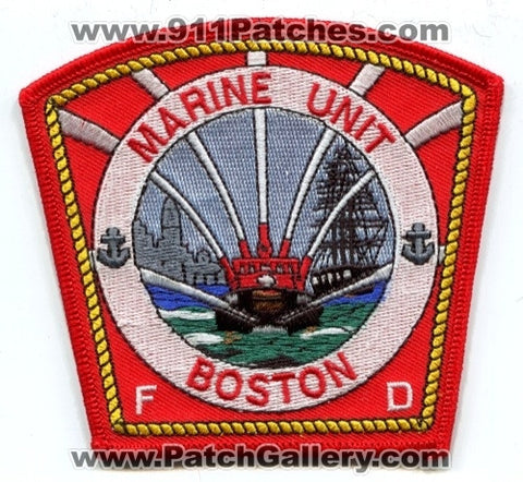 Boston Fire Department Marine Unit Patch Massachusetts MA