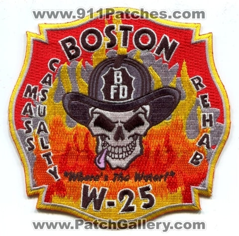 Boston Fire Department W-25 Mass Casualty Rehab Patch Massachusetts MA