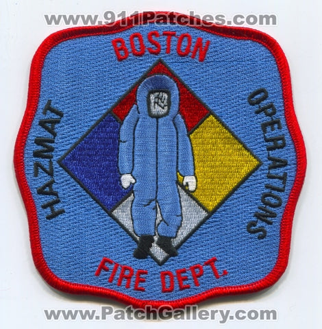 Boston Fire Department HazMat Operations Patch Massachusetts MA