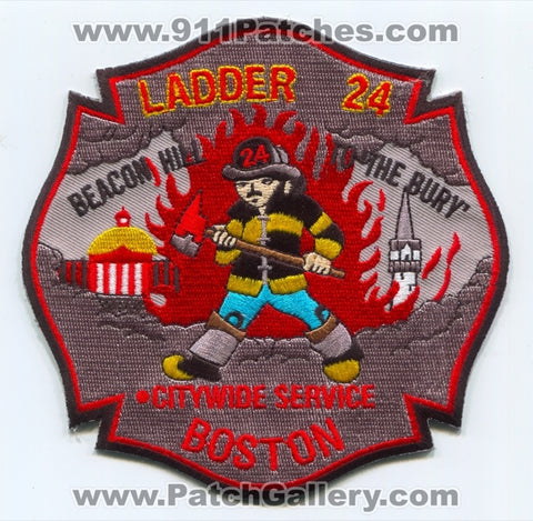Boston Fire Department Ladder 24 Patch Massachusetts MA