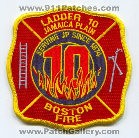 Boston Fire Department Ladder 10 Patch Massachusetts MA