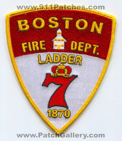 Boston Fire Department Ladder 7 Patch Massachusetts MA