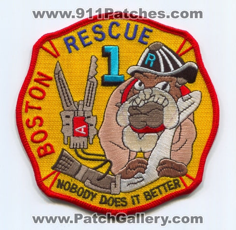 Boston Fire Department Rescue 1 Patch Massachusetts MA
