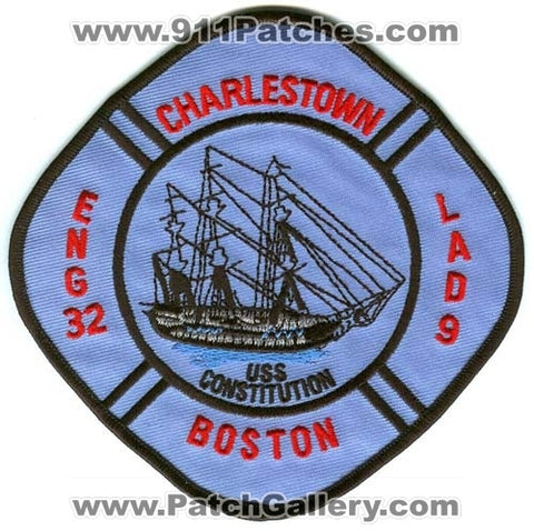 Boston Fire Department Engine 32 Ladder 9 Patch Massachusetts MA