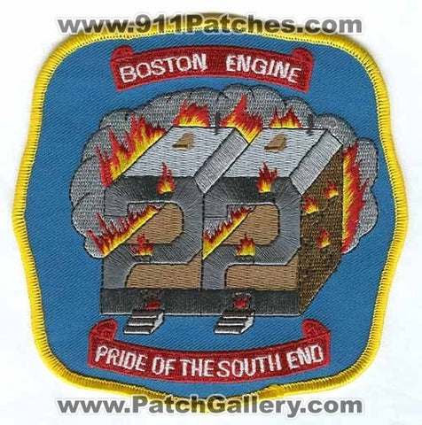 Boston Fire Department Engine 22 Patch Massachusetts MA
