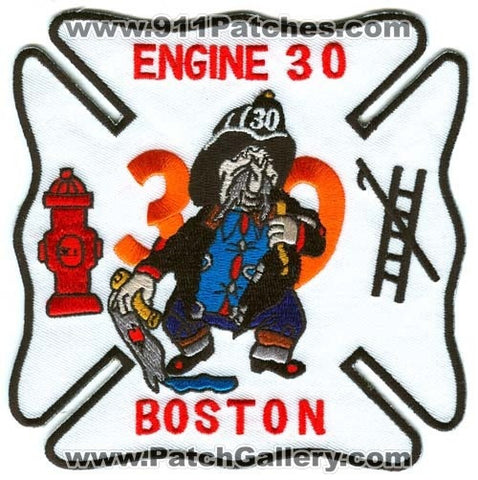 Boston Fire Department Engine 30 Patch Massachusetts MA