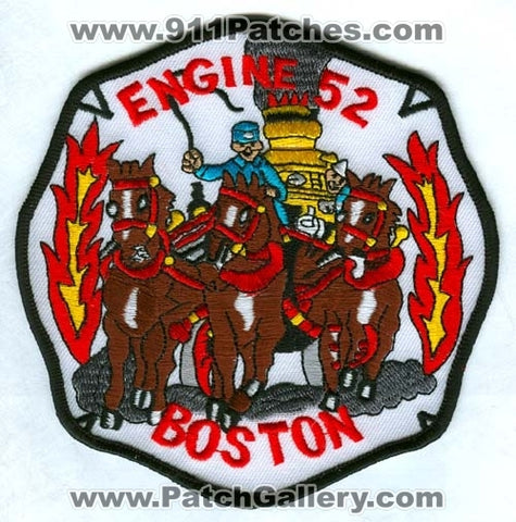 Boston Fire Department Engine 52 Patch Massachusetts MA