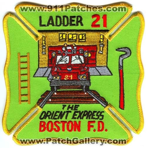 Boston Fire Department Ladder 21 Patch Massachusetts MA