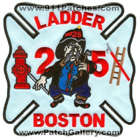 Boston Fire Department Ladder 25 Patch Massachusetts MA