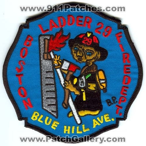 Boston Fire Department Ladder 29 Patch Massachusetts MA