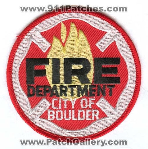Boulder Fire Department Patch Colorado CO