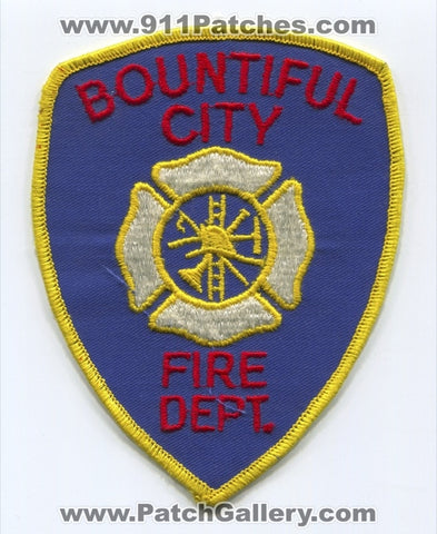 Bountiful City Fire Department Patch Utah UT